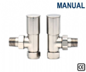 Contemporary Radiator Valves - Corner, Straight or Angled - Chrome